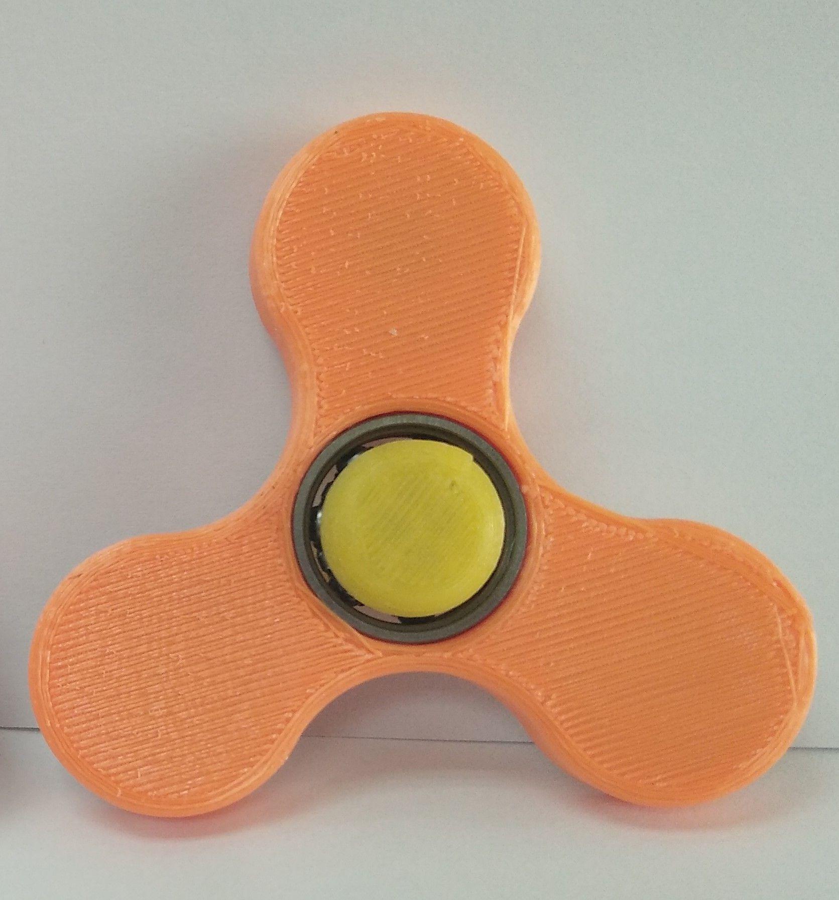3D列印 【玩具】 指尖陀螺 (橘色)